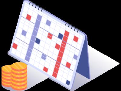 Kalender en geld - belastingzaken op tijd geregeld